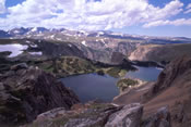 Twin Lakes seen from the Beartooth Highway - Yellowstone National Park