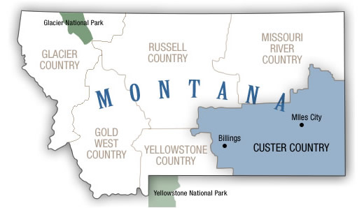Custer Country Map