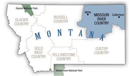 Missouri River Country Map