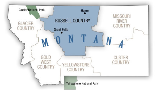 Russell Country Map