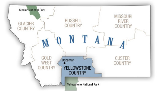 Yellowstone Country Map